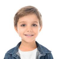 7 year old boy in white shirt